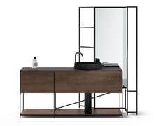 Mobile lavabo componibile in acciaio e legno impiallacciatoR.I.G. MODULES - BATHROOM 03 - DE PADOVA