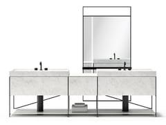 Mobile lavabo componibile in acciaio e marmoR.I.G. MODULES - BATHROOM 01 - DE PADOVA