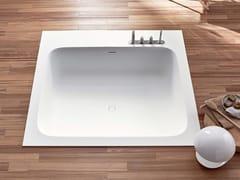 Vasca da bagno quadrata in Corian® da incassoR1 | Vasca da bagno da incasso - REXA DESIGN