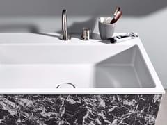 Lavabo da incasso soprapiano rettangolare in Corian®R1 | Lavabo da incasso soprapiano - REXA DESIGN