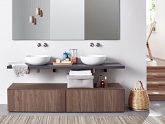 Mobile lavabo in noceR1 | Mobile lavabo in noce - REXA DESIGN