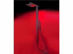 Colonna doccia a parete in ottone con deviatore con cromoterapia R4   Colonna doccia con cromoterapia -