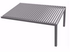 Pergolato in alluminio a lamelle orientabili R610 PERGOKLIMA -