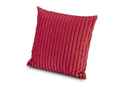Cuscino quadrato in velluto RABAT | Cuscino quadrato - Poppies Day