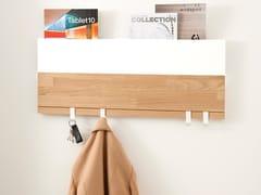 Portariviste / appendiabiti da parete in legno e acciaioRACK - WILDSPIRIT