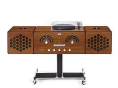 Radio AM/FM e giradischi con amplificatore in noce canalettoRADIOFONOGRAFO RR226-O Noce Canaletto - BRIONVEGA