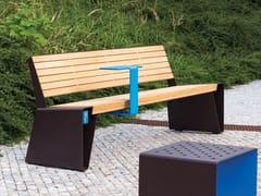 Panchina con illuminazione integrata con schienaleRADIUM SMART | Panchina - MMCITÉ1