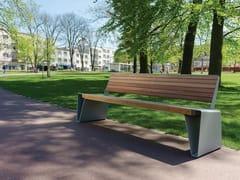mmcité1, RADIUM | Panchina in acciaio e legno  Panchina in acciaio e legno