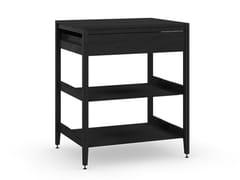 Modulo cucina freestanding componibile in legno masselloRADIX | Mobile 1 cassetto + 2 ripiani - COQUO