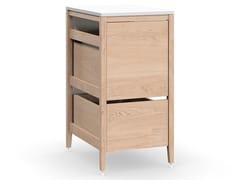 Modulo cucina freestanding componibile in legno masselloRADIX | Mobile pattumiera - COQUO