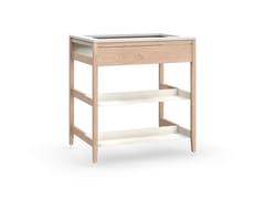 Modulo cucina in legno massello senza pannello posterioreRADIX | Mobile porta lavandino in legno - COQUO
