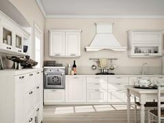 Cucina componibile lineare in frassino con maniglieRAILA - CREO KITCHENS BY LUBE