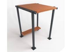 Pensilina in acciaio e legnoRAINBOW - PUNTO DESIGN