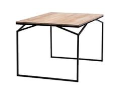 Tavolo rettangolare in acciaio e legnoRAK - MAZANLI