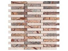 Ideamarmo, RAMAGE 2 Mosaico in marmo Rain Forest e travertino