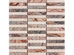 Ideamarmo, RAMAGE 3 Mosaico in marmo Rain Forest e travertino