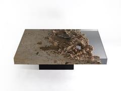Tavolino da caffè rettangolare in travertino di RapolanoRAPOLANO   Tavolino basso - ALCAROL DI ELEONORA DAL FARRA