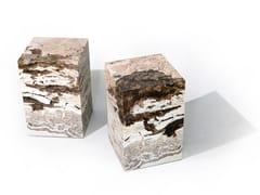 Sgabello / tavolino in travertino di RapolanoRAPOLANO - ALCAROL DI ELEONORA DAL FARRA
