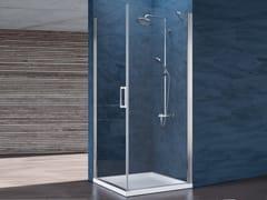 Box doccia angolare in cristallo con porta a battente RAY | Box doccia angolare -