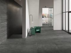 Pavimento/rivestimento in gres porcellanato effetto cementoRE-PLAY CONCRETE ANTHRACITE - PROVENZA BY EMILGROUP