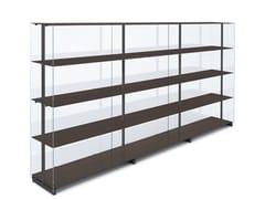 Libreria modulare in alluminio e vetroRED BARON - KNOLL INTERNATIONAL