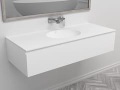 Mobile lavabo singolo sospeso con cassettiRED | Mobile lavabo singolo - RILUXA