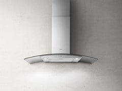 Cappa in metallo a parete con illuminazione integrataREEF A - ELICA