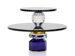 Vassoio rotondo in cristalloREFLECTIONS COPENAGHEN - DALLAS - ARCHIPRODUCTS.COM
