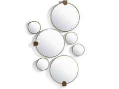 Specchio in ottone satinato con cornice da pareteREFLEX M - S - BELLANI