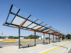 Pensilina in acciaio e vetro per fermata autobusREGIO | Pensilina per fermata autobus - MMCITÉ 1