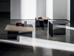 Tavolino quadrato in legno e vetro REGOLO SQUARE - Regolo