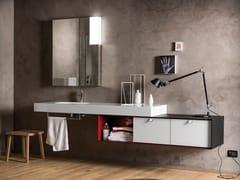 Piano lavabo singolo in opaliteREGOLO | Piano lavabo - ARTELINEA