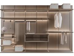 Cabina armadio componibile in frassino con illuminazione integrataREIWA - GIORGETTI
