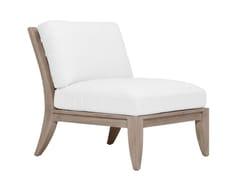 Modulo centrale in teak per divano componibileRELAIS MODULO CENTRALE - JANUS ET CIE