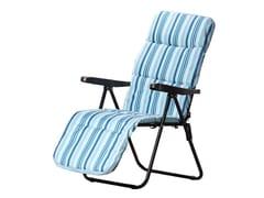 Sedia a sdraio pieghevole in tessuto con braccioliRELAX - FERRITALIA