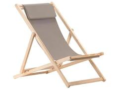Sedia a sdraio pieghevole in legno RELAX IN ROBINIA -