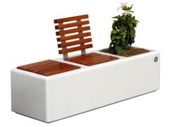 Panchina in graniglia con fioriera integrataISOLA RELAX - DIMCAR
