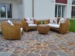 Enjoy your Life, RELAX PLUS Divano da giardino a 4 posti con schienale alto