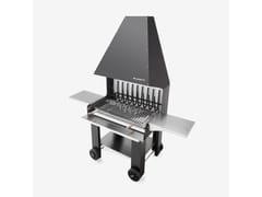 Barbecue a carbonella a legna in metalloREMY - PALAZZETTI LELIO