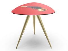 Tavolino rettangolare con piano in MDF e gambe in metalloREVOLVER | Tavolino - SELETTI