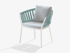Sedia in alluminio con braccioli con cuscino integratoRIA | Sedia con cuscino integrato - FAST