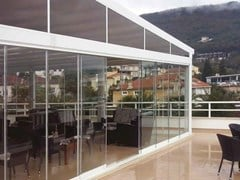 GFS ITALIAN INNOVATIVE GLASS FIXING, RIDE Serramento scorrevole senza profili verticali