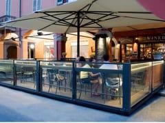 MV Living, RIFLESSO Paravento ad altezza regolabile in alluminio e vetro