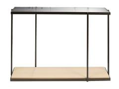 Consolle rettangolare con piani in legno e vetroRIO   Consolle in legno - CDHC PRODUCTIONS