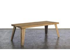 Tavolo da pranzo rettangolare in legno di recuperoRIO STORTO - A&B ROSA DEI LEGNI BY ANTICA EDILIZIA