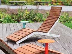 mmcité1, RIVAGE SMART Lettino da giardino in acciaio e legno