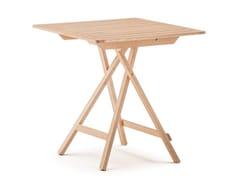 Tavolo da giardino pieghevole quadrato in legno ROBIN 70 -