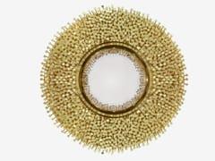 Specchio rotondo in ottone da parete con corniceROBIN - BOCA DO LOBO