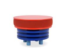 Tavolino rotondo in tessuto con portarivisteROCHE | Tavolino - ADRENALINA