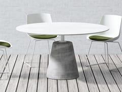 Tavolo laccato rotondoROCK TABLE | Tavolo laccato - MDF ITALIA